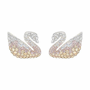 Swarovski Rhodium Iconic Swan Earrings
