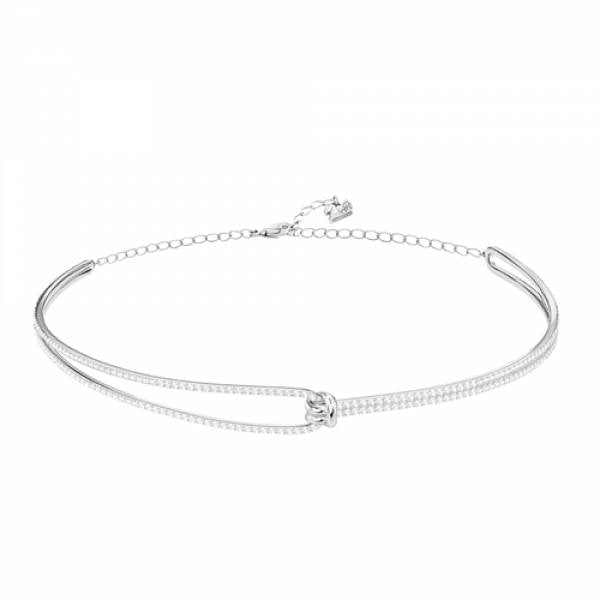 Swarovski Rhodium Lifelong Chocker Necklace