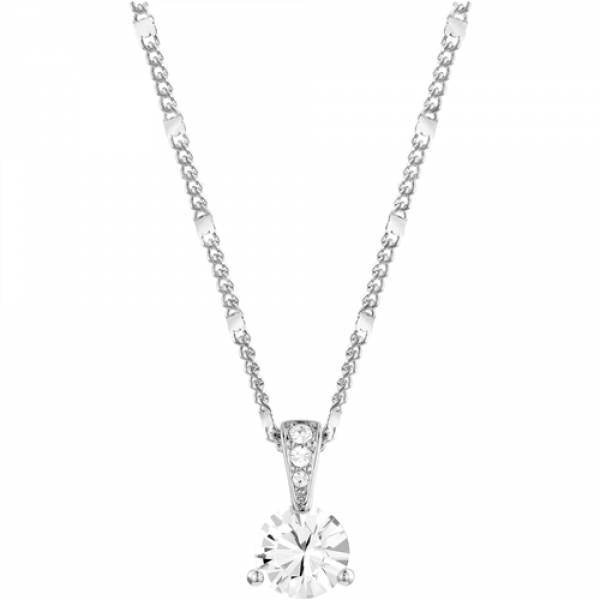 Swarovski Rhodium Solitaire Necklace