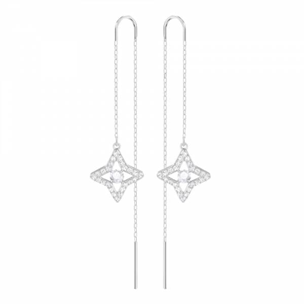 Swarovski Rhodium Sparkling Earrings