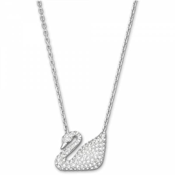 Swarovski Rhodium Swan Necklace