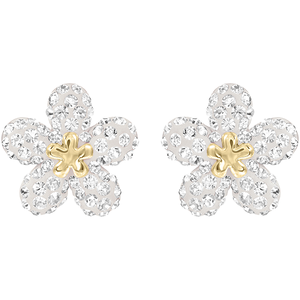 Swarovski Tough Flower Pierced Earrings