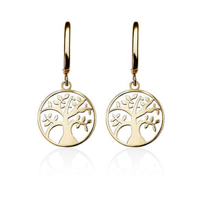 9Ct Gold Tree Of Life Earrings