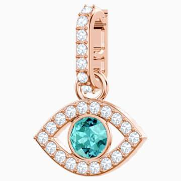 Swarovksi Swarovski Remix Collection Evil Eye Charm, Multi-coloured, Rose-gold tone plated
