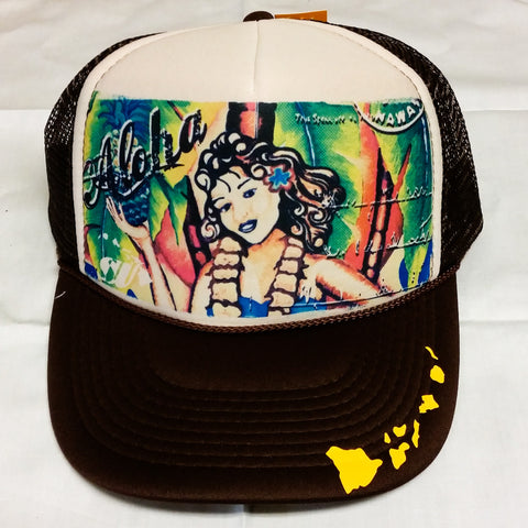 Aloha Girl - Photo Trucker Hat