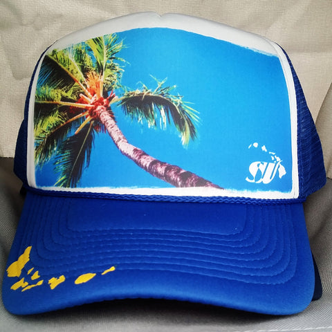 Blue Sky Palms - Photo Trucker Hat