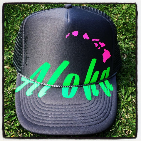 Split Aloha - Photo Trucker Hat