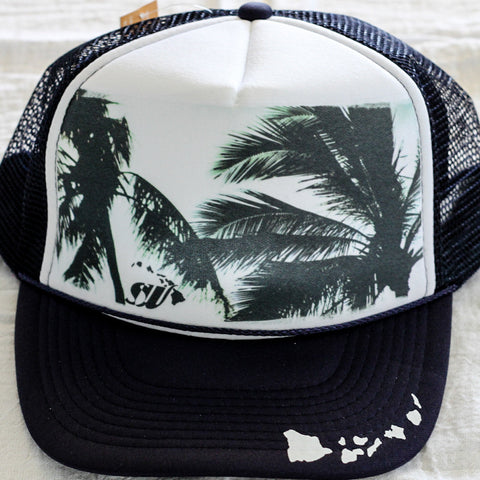 Palm Shilouette - Photo Trucker Hat