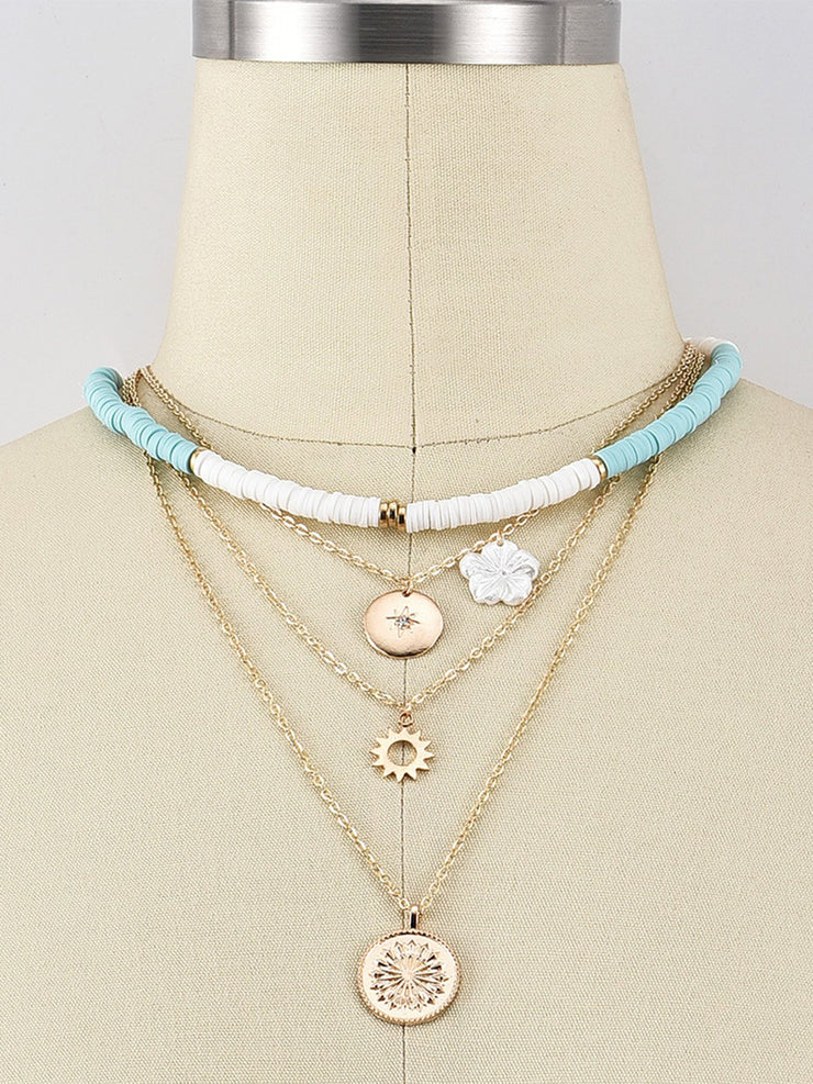 Women Multi-Layer Alloy Necklaces