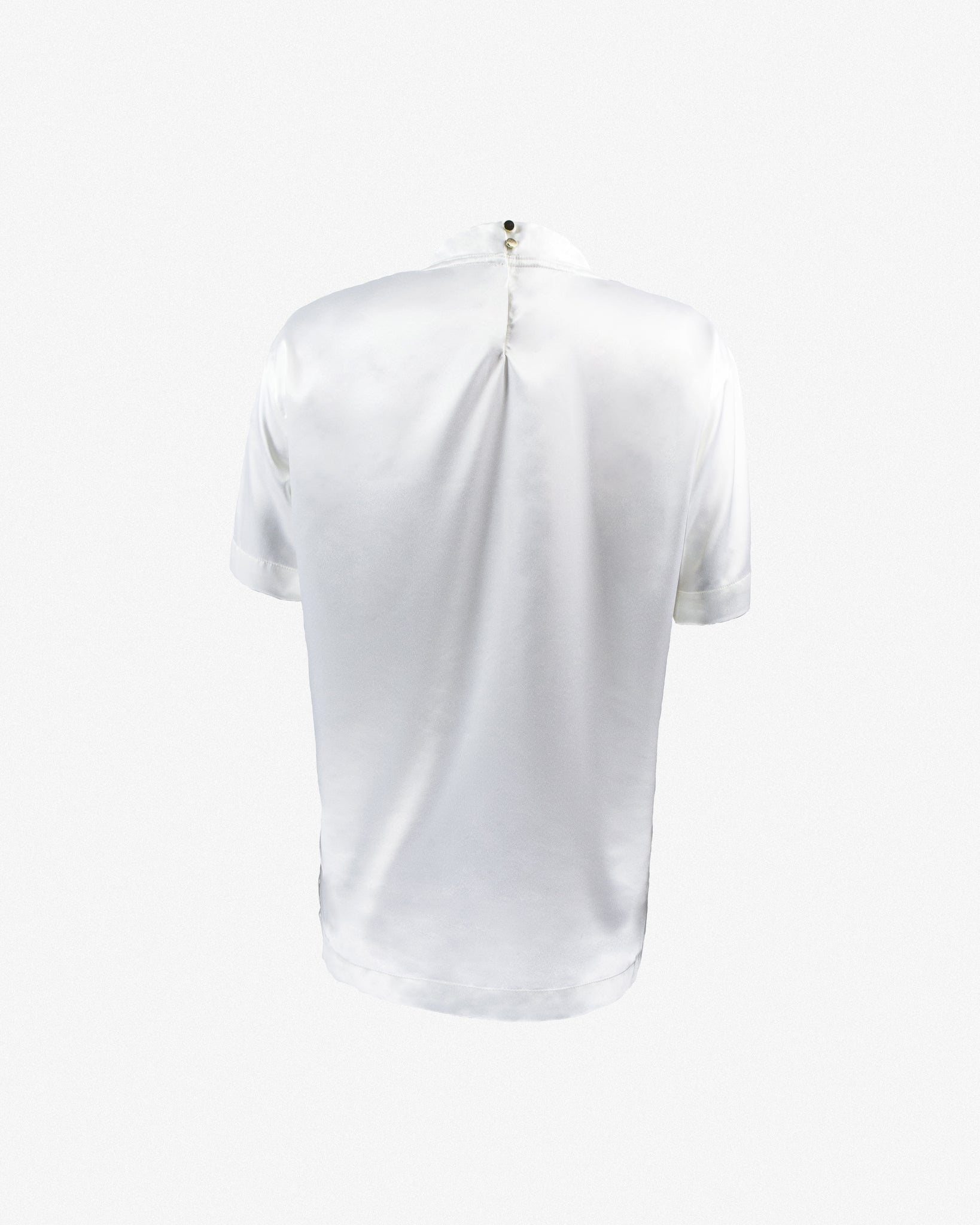 LOGO SILK T-SHIRT II IN WHITE