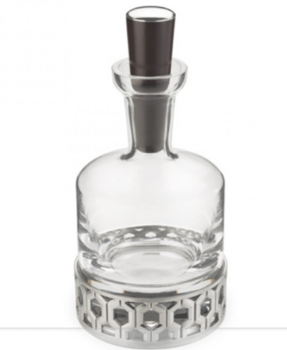 ROYAL SELANGOR  HEXAGON WHISKY WITH TIMBER STOPPER