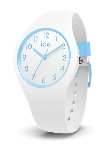 ICE OLA KIDS COLLECTION BLUE CASE 34MM (S) WHITE DIAL WHITE STRAP