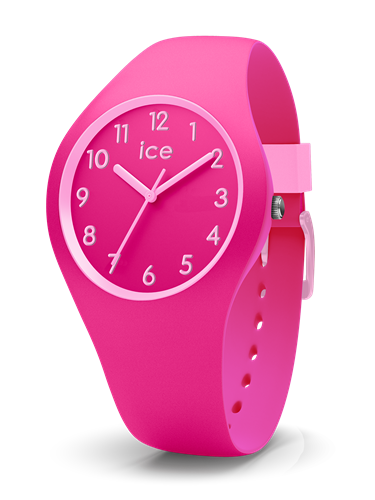 ICE OLA KIDS COLLECTION PINK CASE 34MM (S) PINK DIAL PINK STRAP