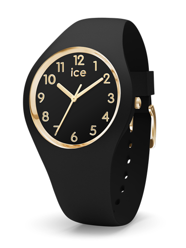 ICE GLAM COLLECTION GOLD CASE 34MM (S) BLACK DIAL BLACK STRAP