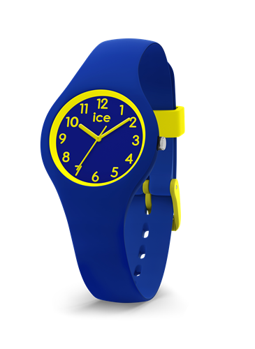 ICE OLA KIDS COLLECTION YELLOW CASE 28MM (XS) BLUE DIAL BLUE STRAP