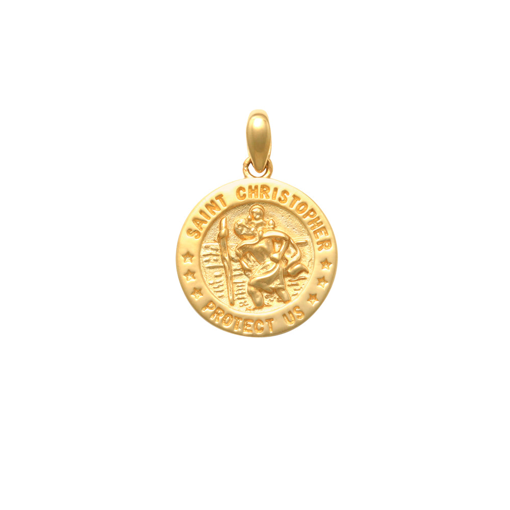 18CT YG ST CHRISTOPHER 15MM
