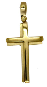 18CT YG CROSS 28 16MM
