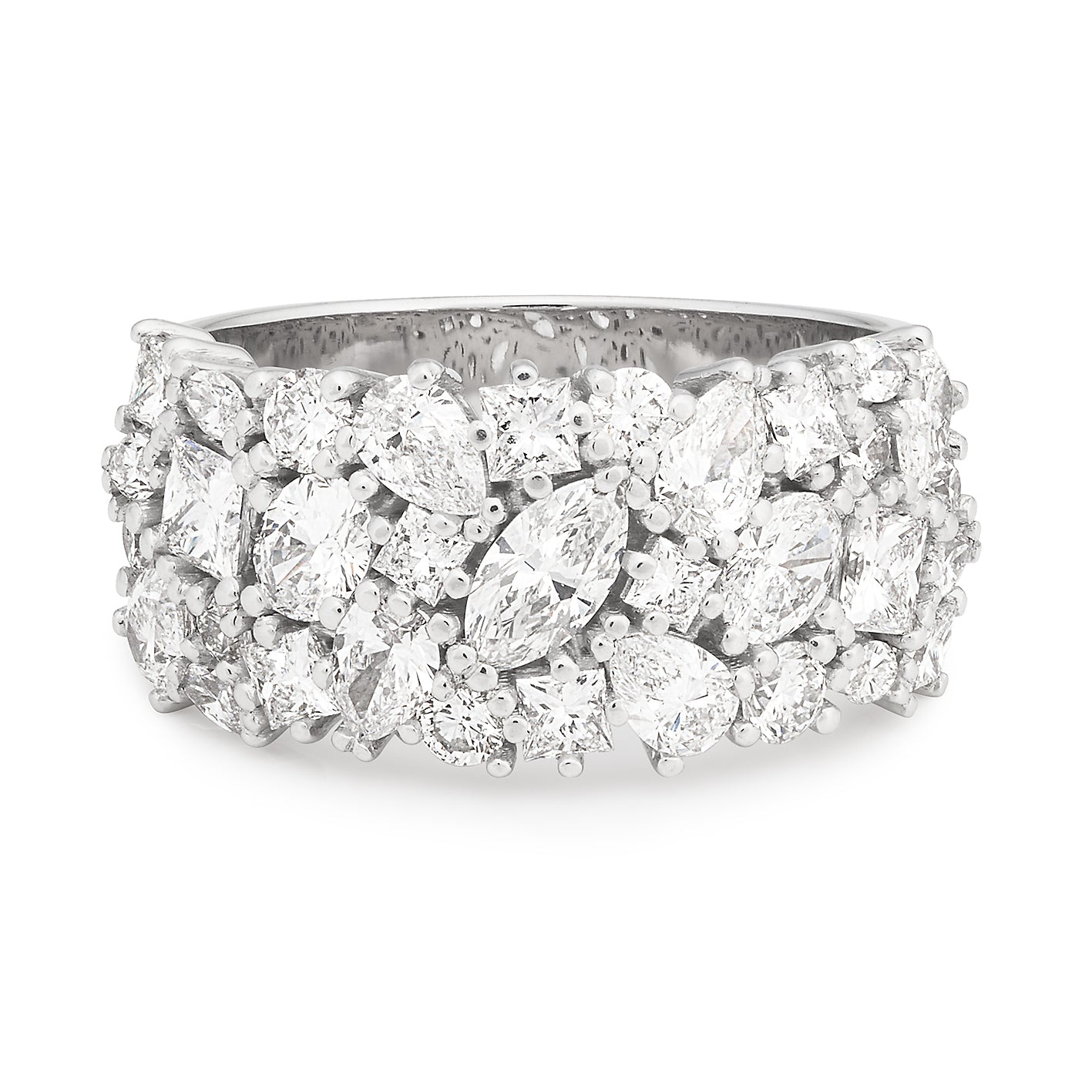 DIAMOND (SI GH) DRESS RING IN 18CT WHITE GOLD TDW 2.24CT