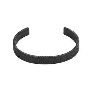 IP BLACK STAINLESS STEEL TYRE PATTERN CUFF