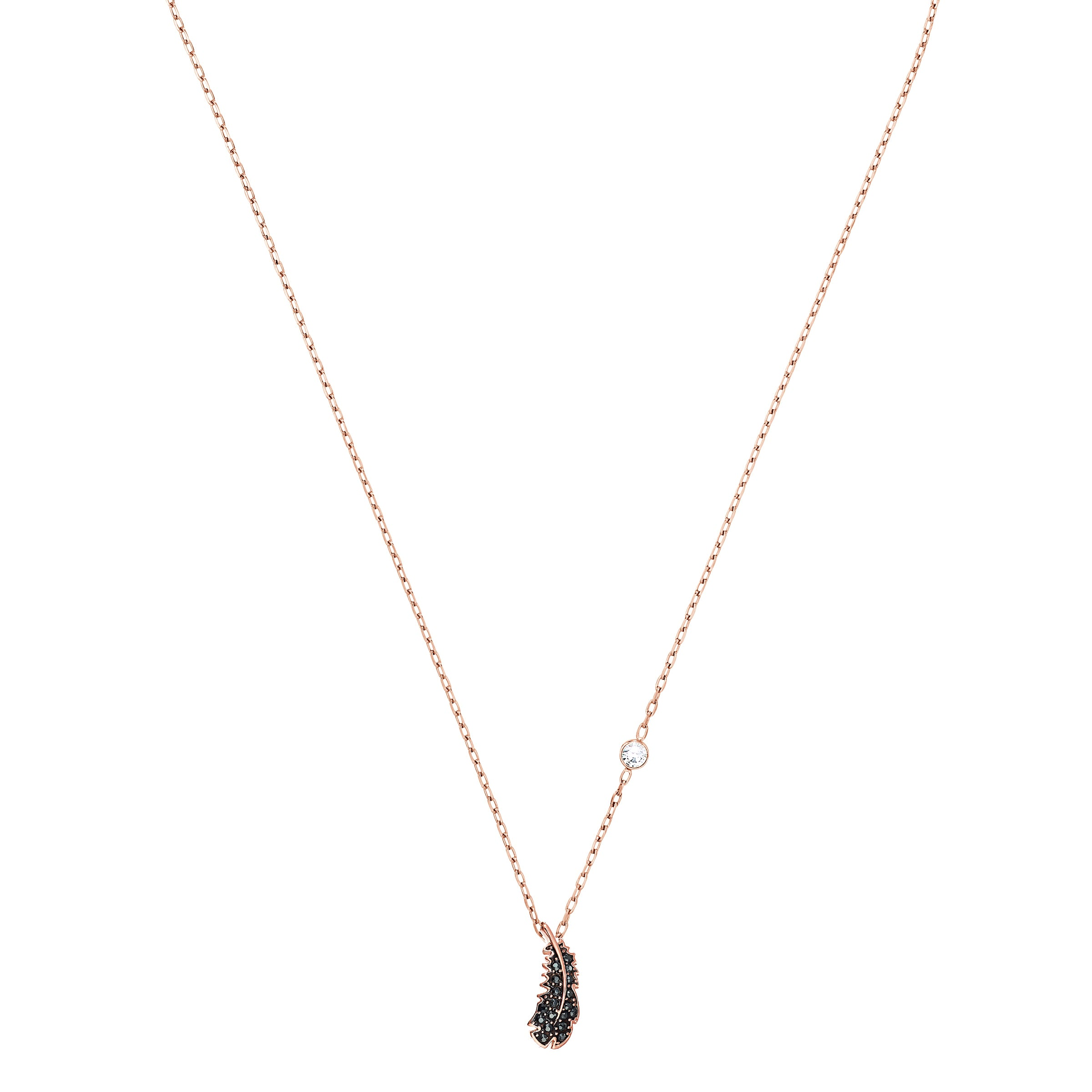 NAUGHTY:NECKLACE MINI JET HEM/ROS