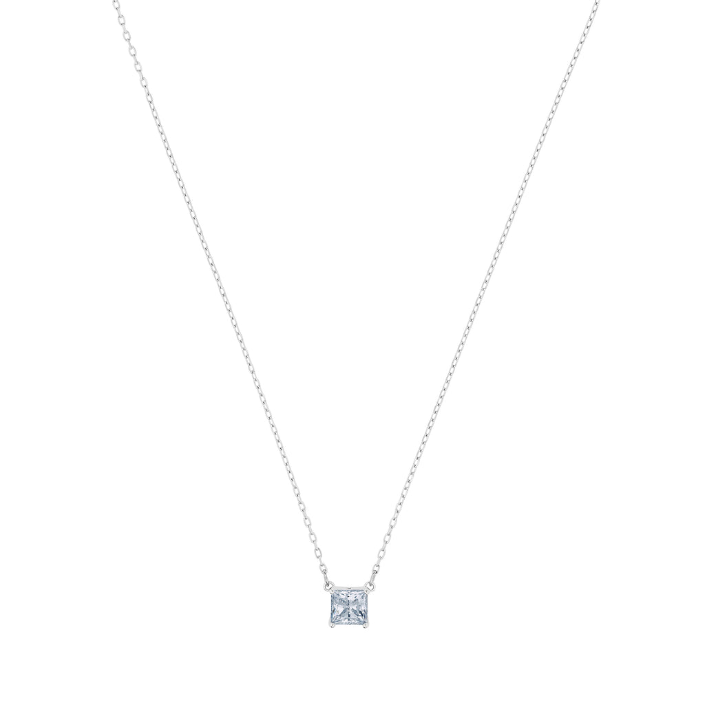 ATTRACT:NECKLACE SQ CZWH/RHS