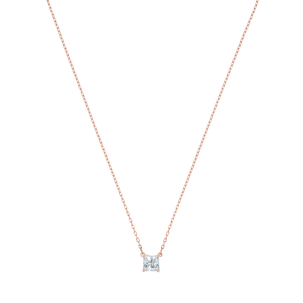 ATTRACT:NECKLACE SQ CZWH/ROS