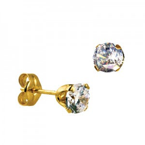 9CT 5MM CZ EARRINGS