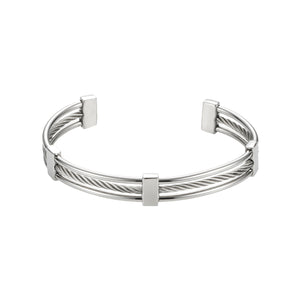 SAVAGE STAINLESS STEEL CABLE WIRE CUFF