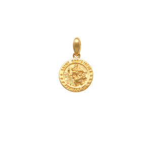 9CT YG 6MM ST CHRISTOPHER