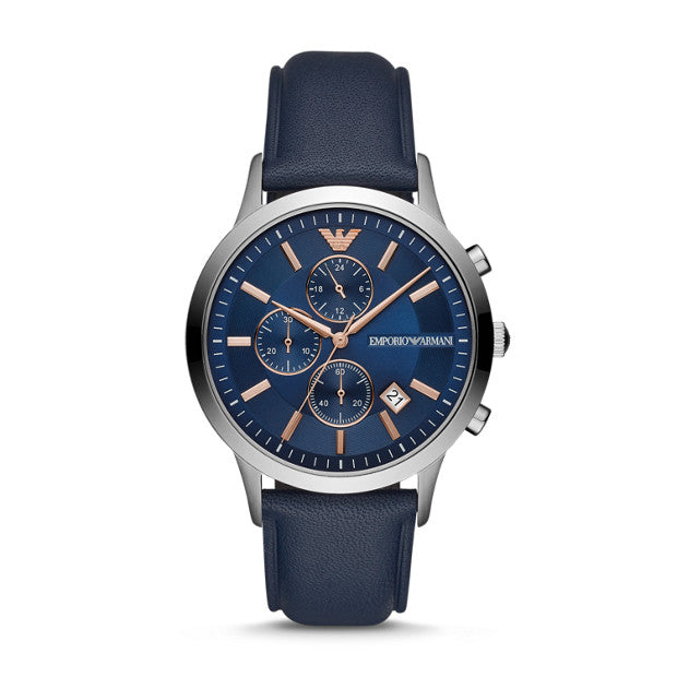 FOSSIL GENTS RD BLU BLU ST ARM WATCH