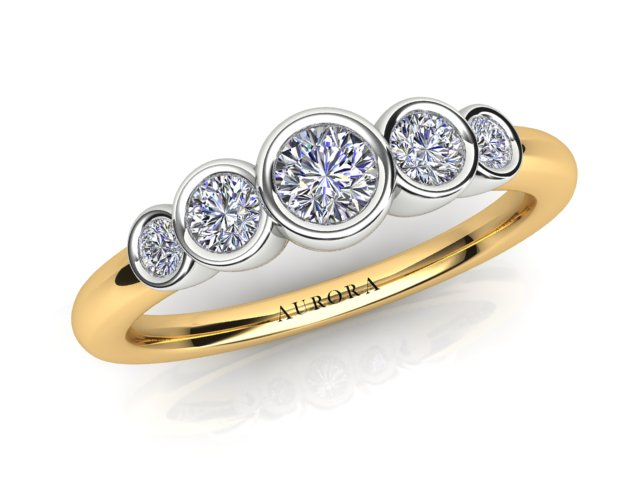 AURORA 18CT GOLD G SI TDW- 0.36CT DIAMOND RING