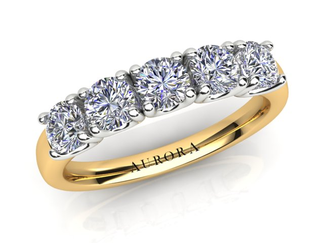 AURORA 18CT GOLD AND PLATINUM G SI 1.00CT-TDW DIAMOND RING