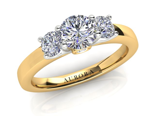 AURORA 18CT GOLD G SI1 TDW- 0.92CT DIAMOND RING