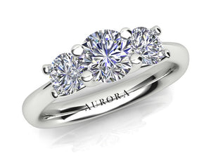 AURORA 18CT GOLD AND PLATINUM G SI1 TDW- 1.03CT DIAMOND RING