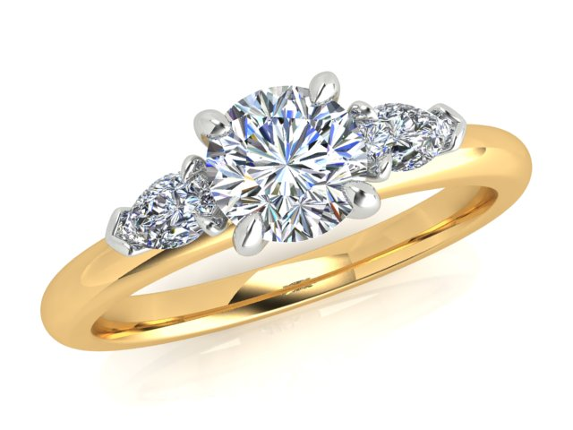 AURORA 18CT GOLD AND PLATINUM G SI1 TDW- 1.00CT DIAMOND RING