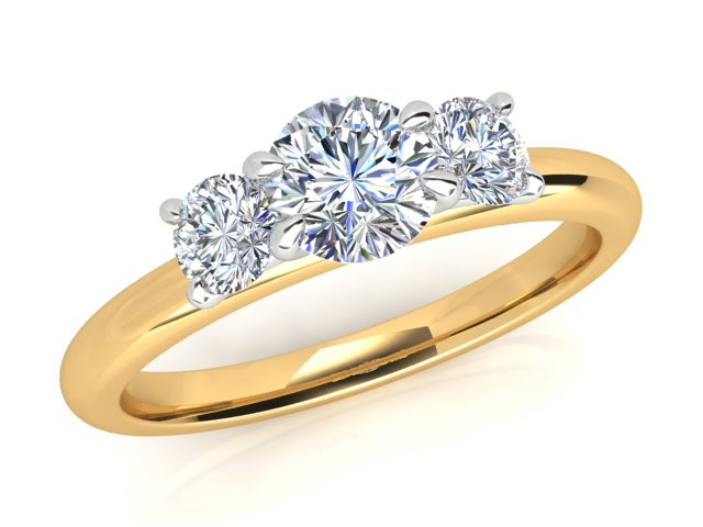 AURORA 18CT GOLD AND PLATINUM G SI1 TDW-0.84CT DIAMOND RING