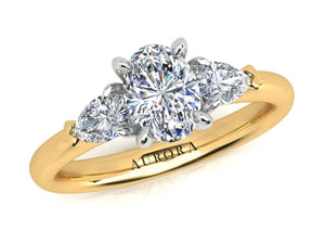 AURORA 18CT GOLD G SI1 TDW- 1.20CT DIAMOND RING