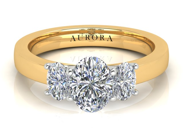 AURORA 18CT GOLD G SI1 TDW- 1.654CT DIAMOND RING