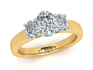 AURORA 18CT GOLD G SI1 TDW- 1.048CT DIAMOND RING