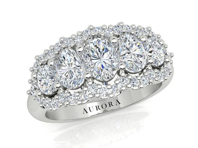 AURORA 18CT GOLD G SI1 TDW-1.70CT DIAMOND RING