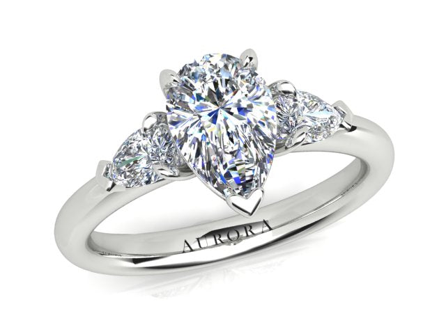 AURORA 18CT GOLD F SI1 TDW- 1.40CT DIAMOND RING