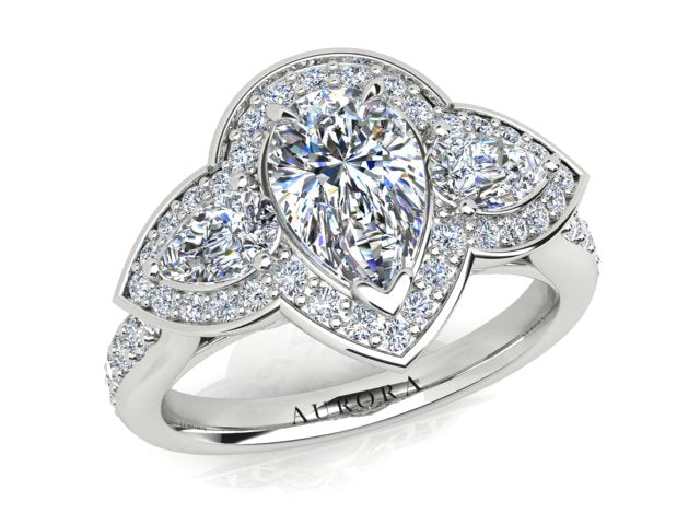 AURORA 18CT GOLD F SI1 AUP, G SI1 RB TDW- 2.00CT DIAMOND RING