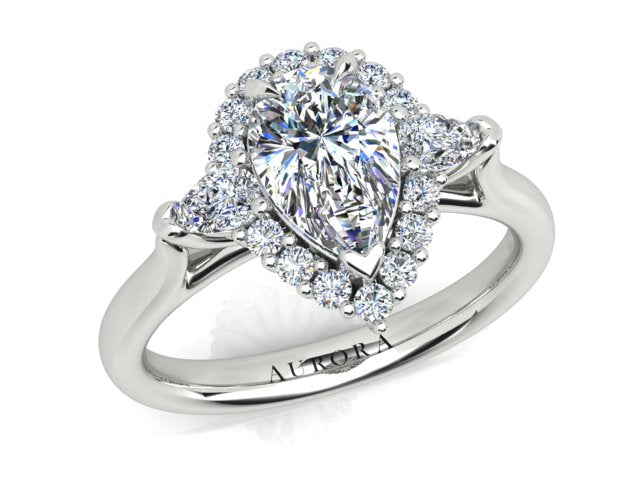 AURORA 18CT GOLD F SI1 AUP, G SI1 RB TDW- 1.33CT DIAMOND RING