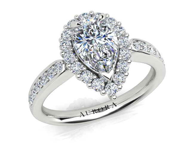 AURORA 18CT GOLD F SI1 AUP, G SI1 RB TDW- 1.53CT DIAMOND RING