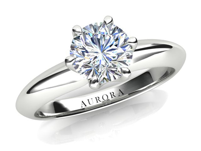 AURORA 18CT GOLD G SI1 TDW- 1.00CT DIAMOND RING