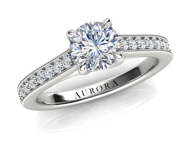 AURORA 18CT GOLD AND PLATINUM G SI1 TDW- 0.91CT DIAMOND RING