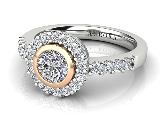 AURORA 18CT GOLD G SI1 TDW- 1.14CT DIAMOND RING