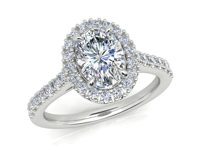 AURORA 18CT GOLD G SI1 AUO, G SI RB TDW- 1.40CT DIAMOND RING