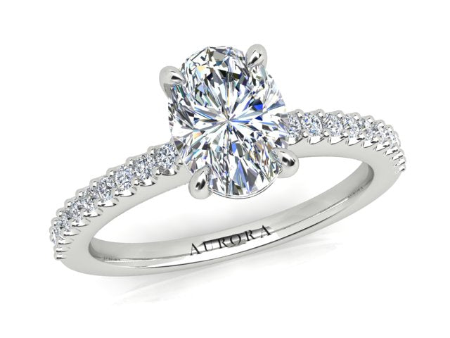AURORA 18CT GOLD G SI1 AUO, G SI RB TDW- 1.20CT DIAMOND RING