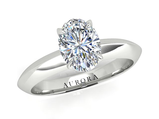 AURORA 18CT GOLD F SI1 TDW- 1.00CT DIAMOND RING